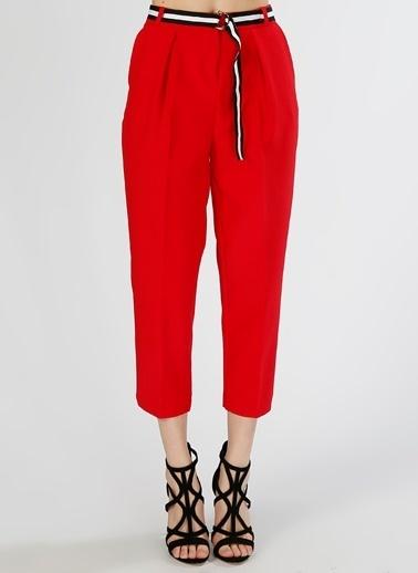 Koton Koton Kemer Detaylı Kırmızı Pantolon Kırmızı
